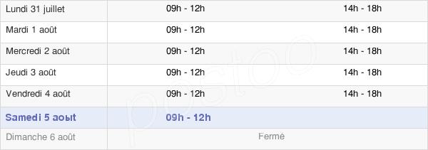 horaires d'ouverture de la Mairie De Vergongheon
