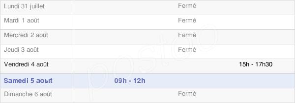 horaires d'ouverture de la Mairie De Saint-Pierre-Eynac