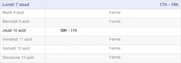 horaires d'ouverture de la Mairie D'Espalem