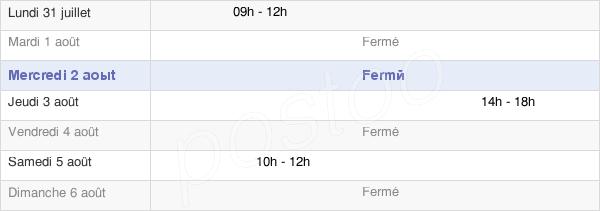 horaires d'ouverture de la Mairie De Saint-Laurent-Chabreuges