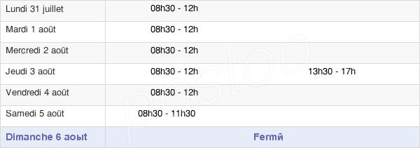 horaires d'ouverture de la Mairie De Pringy