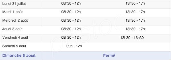 horaires d'ouverture de la Mairie De Douvaine
