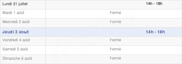 horaires d'ouverture de la Mairie De Lauret