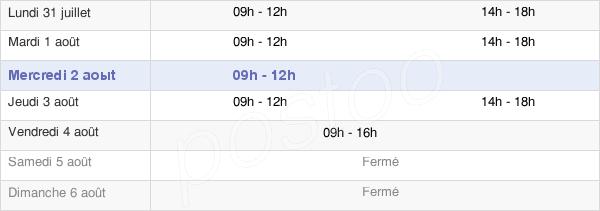 horaires d'ouverture de la Mairie De Saubion