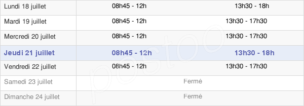 horaires d'ouverture de la Mairie De Saint-Vincent-De-Tyrosse