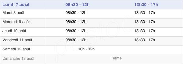 horaires d'ouverture de la Mairie De Tarnos