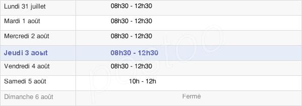horaires d'ouverture de la Mairie De L'Isle-Sur-La-Sorgue