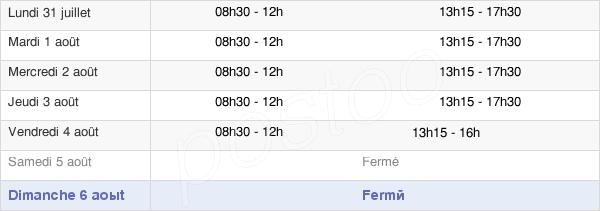horaires d'ouverture de la Mairie De Pernes-Les-Fontaines