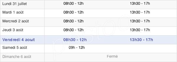 horaires d'ouverture de la Mairie Du Thor