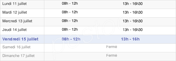 horaires d'ouverture de la Mairie De Châteauneuf-De-Gadagne