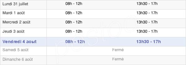 horaires d'ouverture de la Mairie De Vaison-La-Romaine