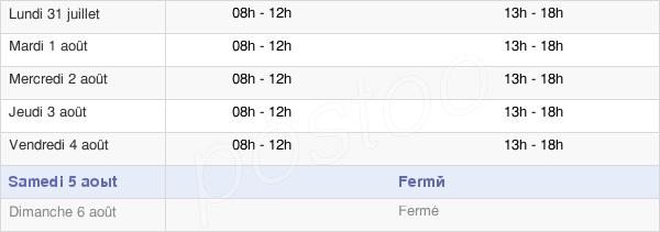 horaires d'ouverture de la Mairie De Piolenc
