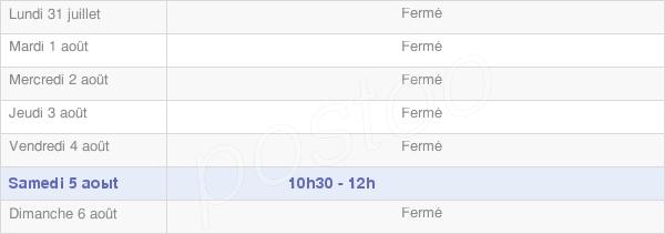 horaires d'ouverture de la Mairie De Roncenay