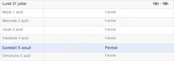horaires d'ouverture de la Mairie D' Arrembécourt