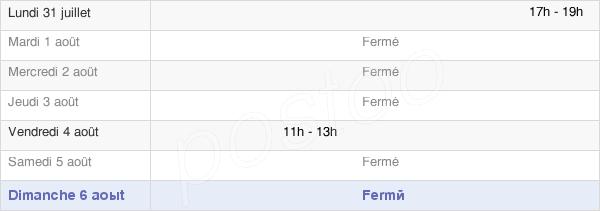 horaires d'ouverture de la Mairie De Bossancourt
