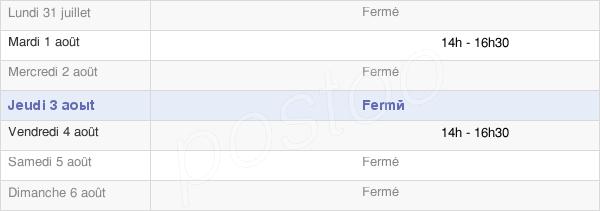 horaires d'ouverture de la Mairie De Colombé-La-Fosse
