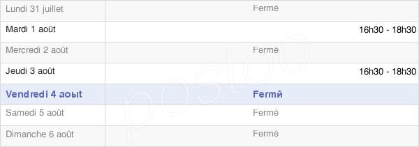 horaires d'ouverture de la Mairie De Rumilly-Lès-Vaudes