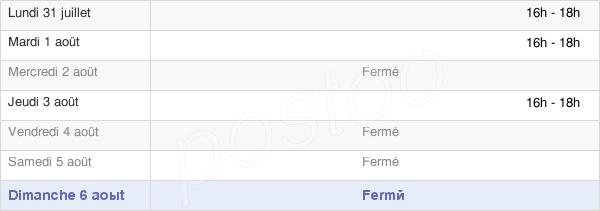 horaires d'ouverture de la Mairie De Saint-Benoist-Sur-Vanne