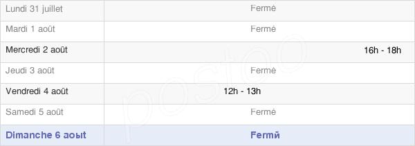 horaires d'ouverture de la Mairie De Maizières-Lès-Brienne