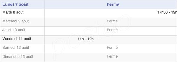 horaires d'ouverture de la Mairie D'Avon-La-Pèze