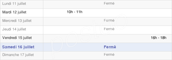 horaires d'ouverture de la Mairie De Marolles-Lès-Bailly