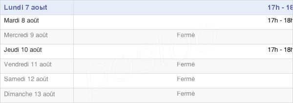 horaires d'ouverture de la Mairie De La Villeneuve-Au-Chêne