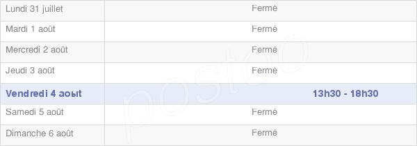 horaires d'ouverture de la Mairie De Fralignes