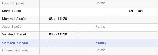 horaires d'ouverture de la Mairie De Saint-Jean-De-Bonneval