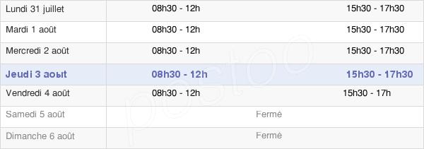 horaires d'ouverture de la Mairie De Mussy-Sur-Seine