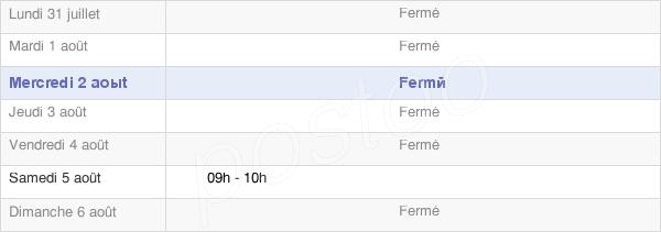 horaires d'ouverture de la Mairie De Saint-Léger-Sous-Margerie