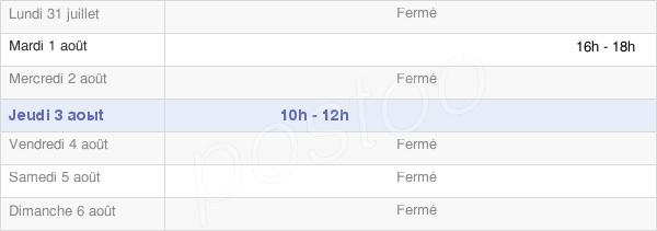 horaires d'ouverture de la Mairie De Jessains