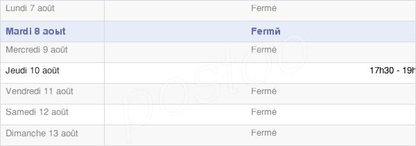 horaires d'ouverture de la Mairie De Fays-La-Chapelle