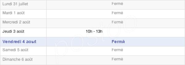 horaires d'ouverture de la Mairie De Fravaux