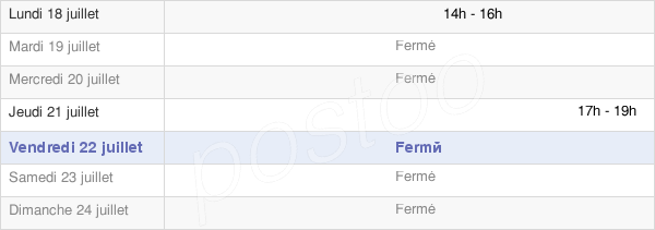 horaires d'ouverture de la Mairie De Villemorien