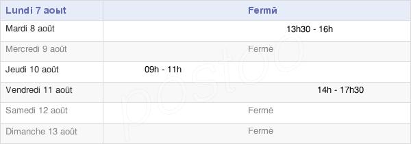 horaires d'ouverture de la Mairie De Saint-Léger-Sous-Brienne
