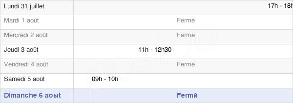 horaires d'ouverture de la Mairie De Fontaine-Mâcon
