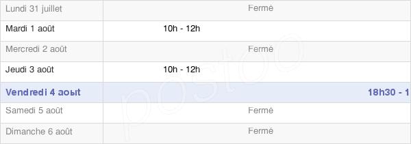 horaires d'ouverture de la Mairie De Montfey