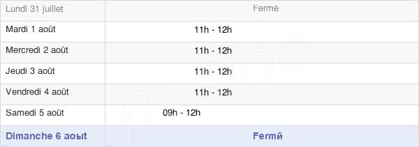 horaires d'ouverture de la Mairie D'Origny-Le-Sec
