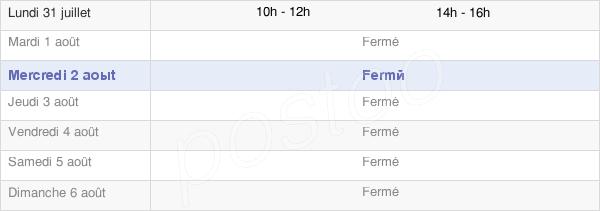 horaires d'ouverture de la Mairie De Maisons-Lès-Chaource