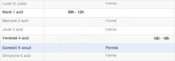 horaires d'ouverture de la Mairie De Rilly-Sainte-Syre
