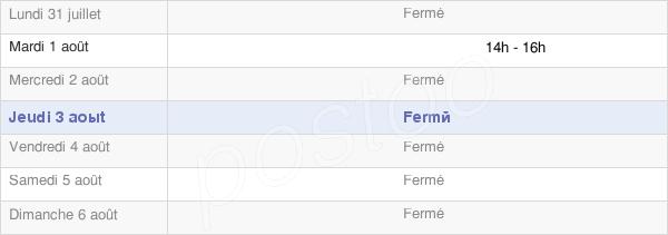 horaires d'ouverture de la Mairie De Bouy-Sur-Orvin