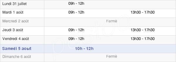 horaires d'ouverture de la Mairie De Charmont-Sous-Barbuise