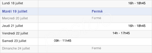 horaires d'ouverture de la Mairie De Saint-Thibault