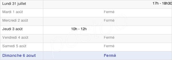horaires d'ouverture de la Mairie De Bercenay-En-Othe