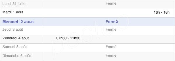horaires d'ouverture de la Mairie D'Avirey-Lingey