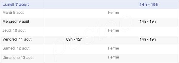 horaires d'ouverture de la Mairie De Mergey