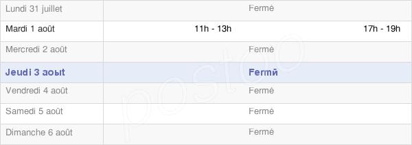horaires d'ouverture de la Mairie D'Herbisse
