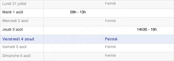 horaires d'ouverture de la Mairie D'Éclance