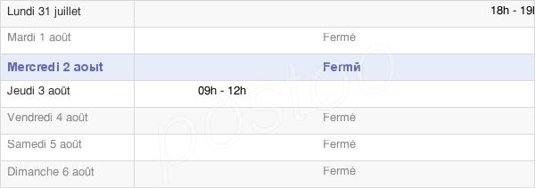 horaires d'ouverture de la Mairie De La Fosse-Corduan