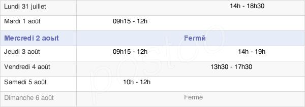horaires d'ouverture de la Mairie De Vallant-Saint-Georges